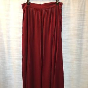 BHLDN burgundy bridesmaid skirt